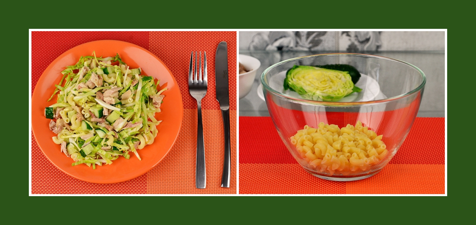 Frühlingssalat mit Nudeln