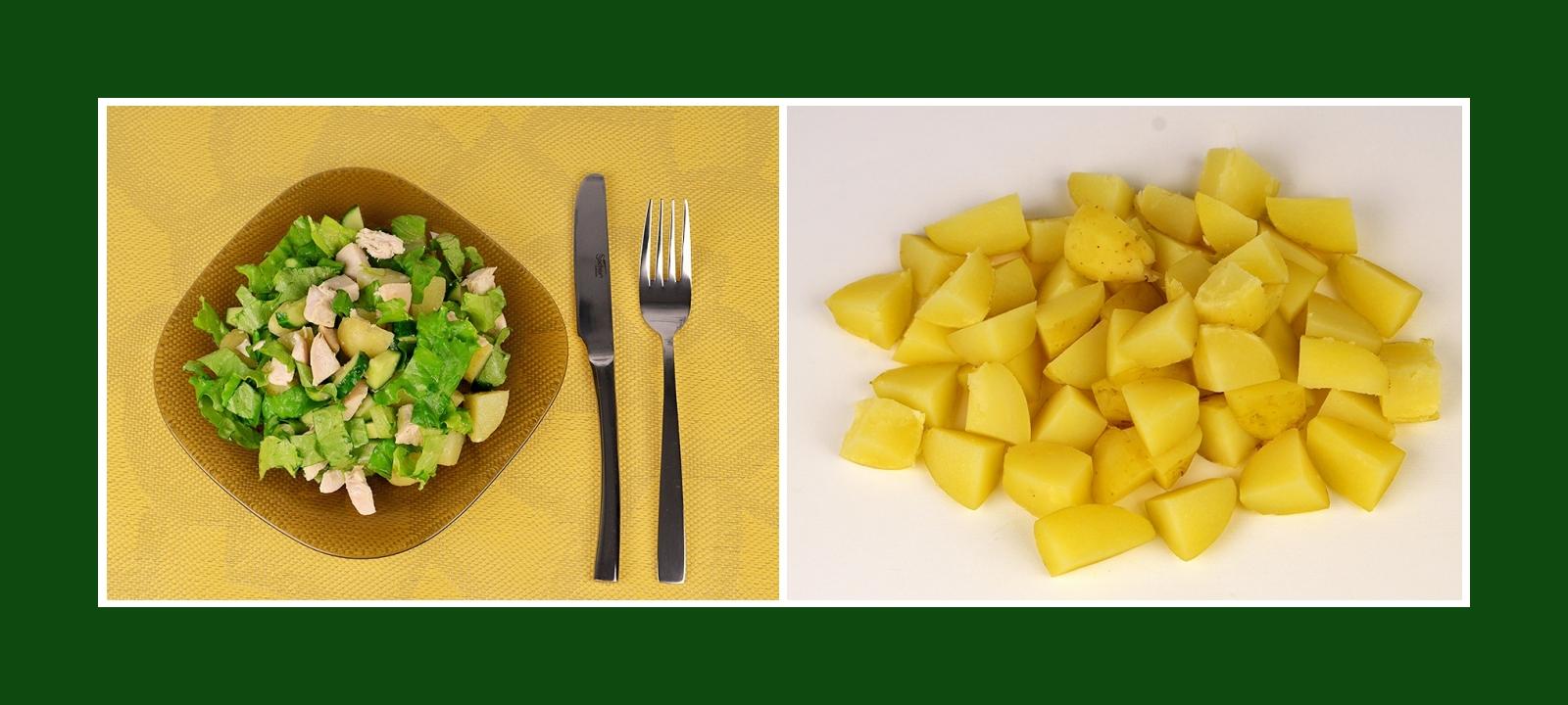 Leichter Kartoffelsalat mit Kochkartoffeln