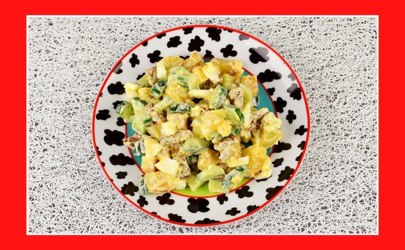 Warmer Kartoffelsalat mit Croutons