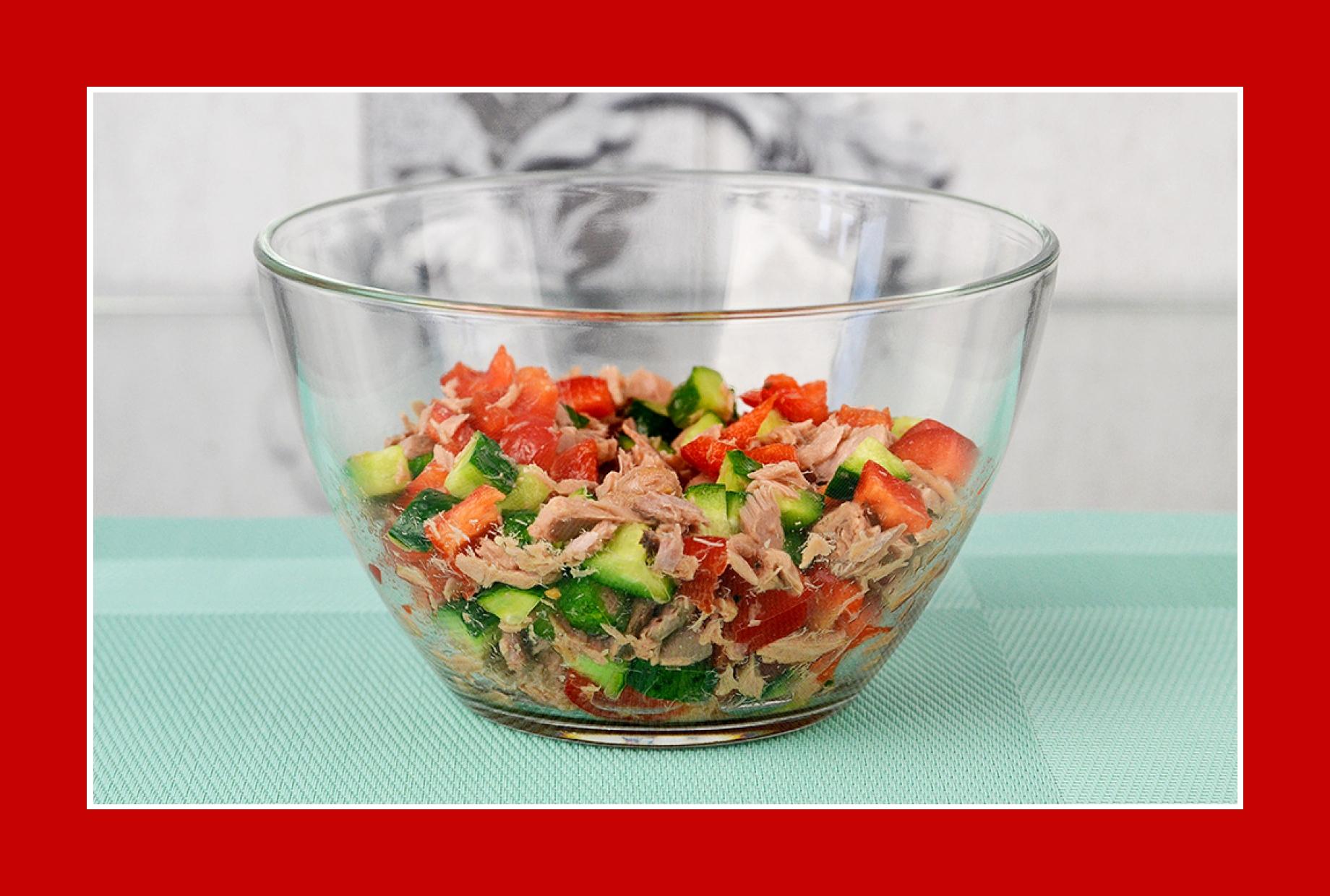 Einfacher Salat Thunfischsalat Paprikasalat