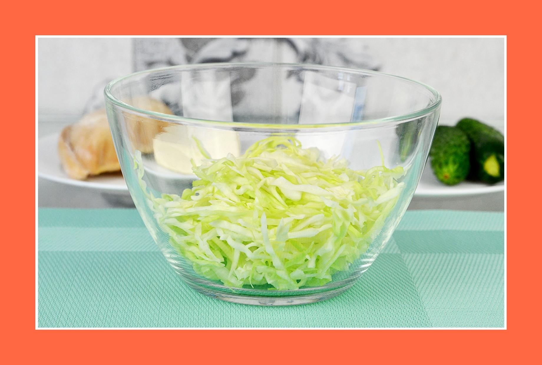 Hähnchensalat mit Kohl