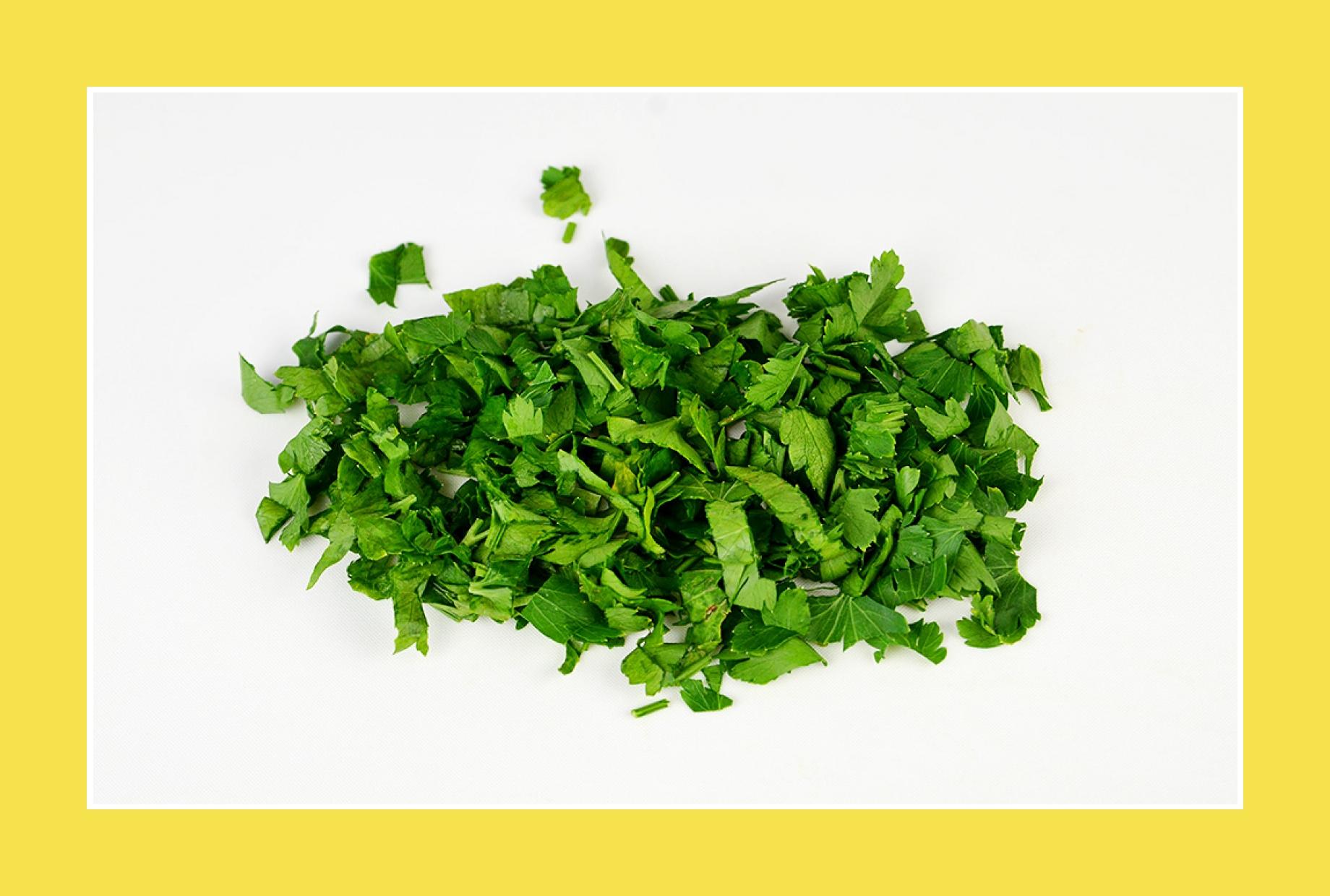 Petersilien für bunten Salat Sommersalat