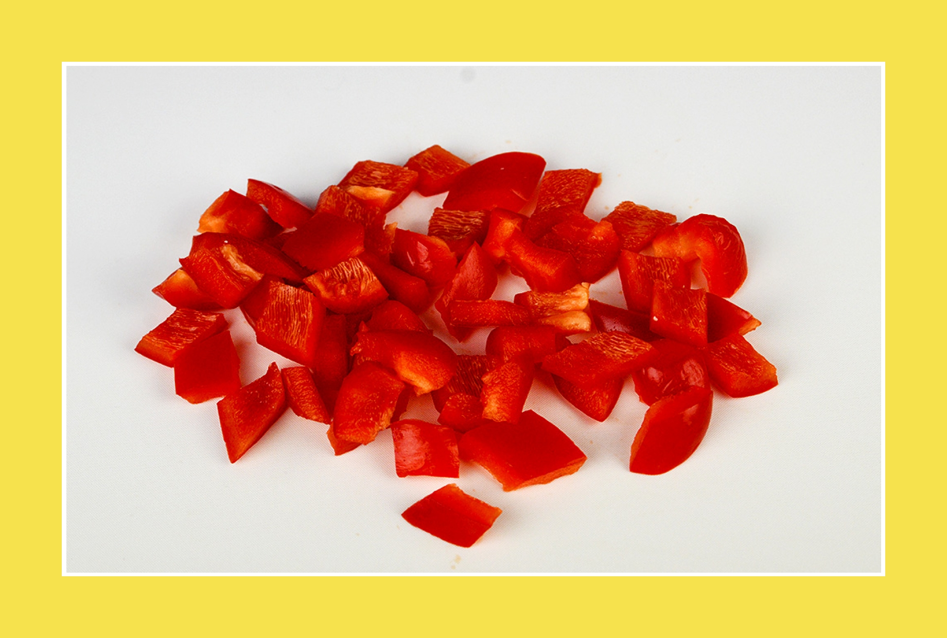 rote Paprika für Paprikasalat, bunten Salat