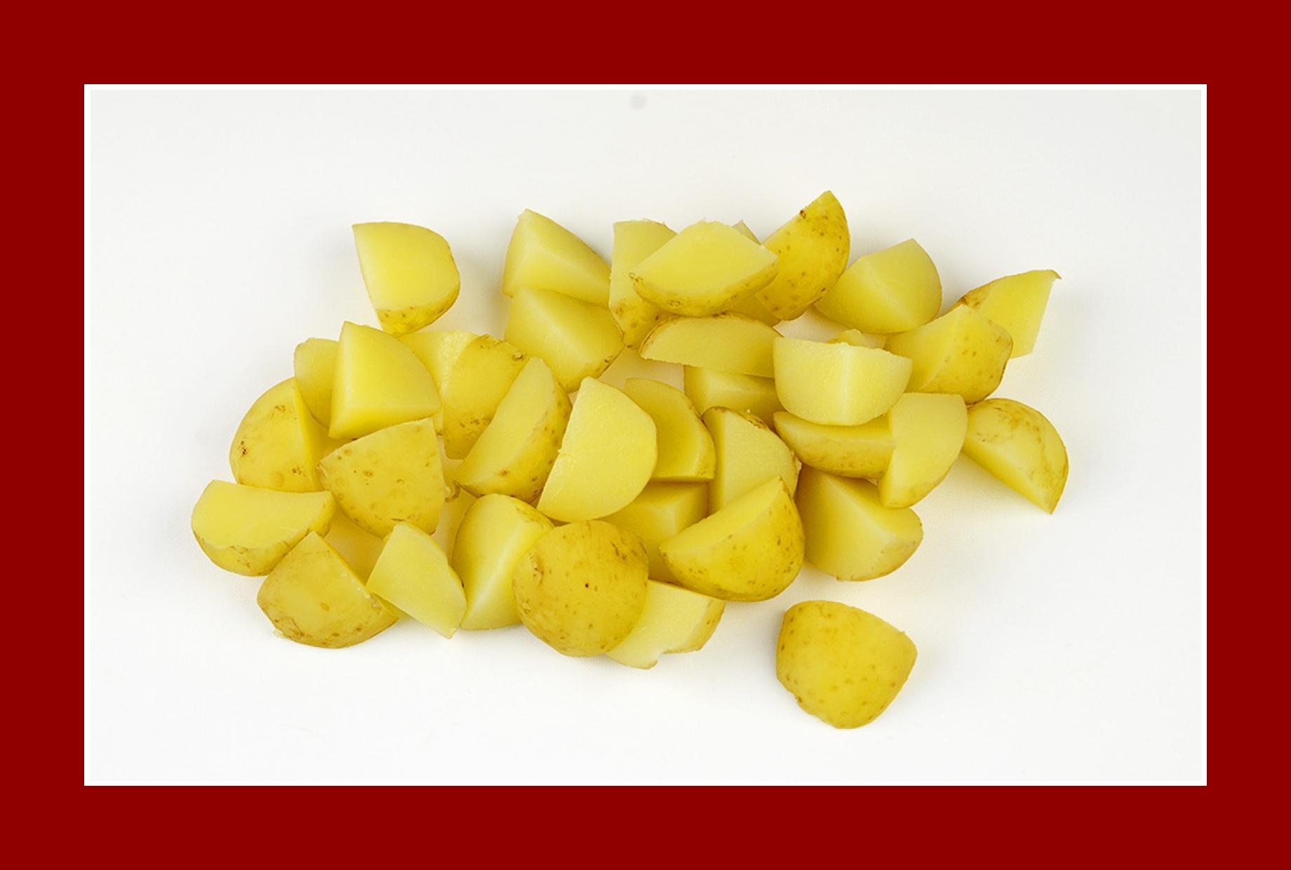 Sommersalat leckerer Salat Kartoffelsalat mit Frühkartoffeln