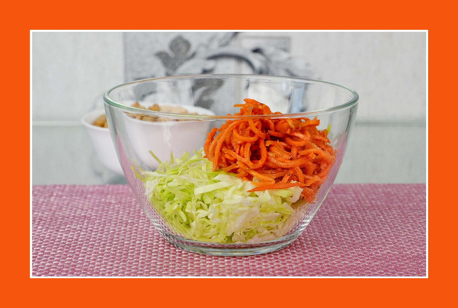 Möhrensalat Weißkrautsalat mit Möhren