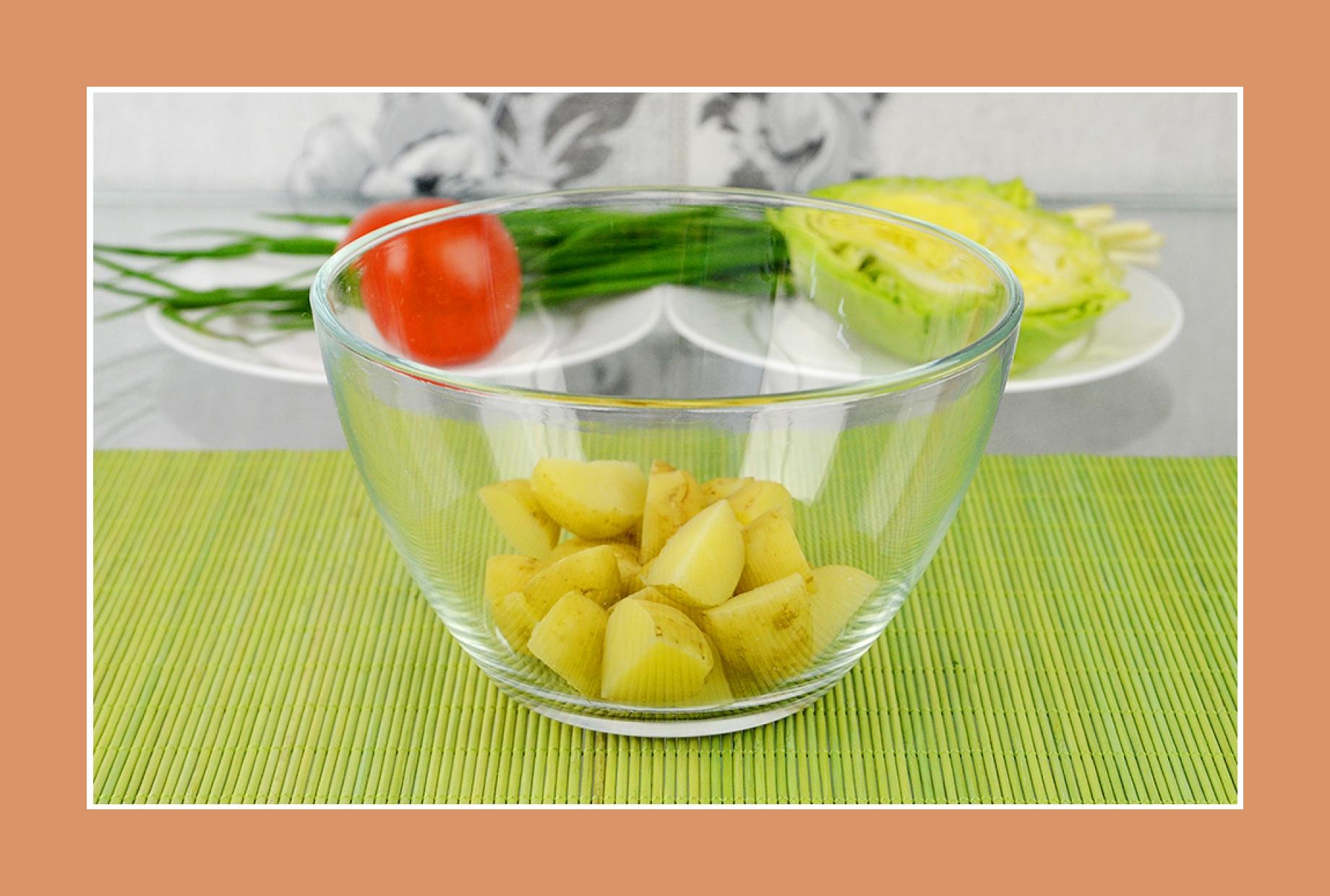 Kartoffelsalat Weißkrautsalat mit Frühkartoffeln