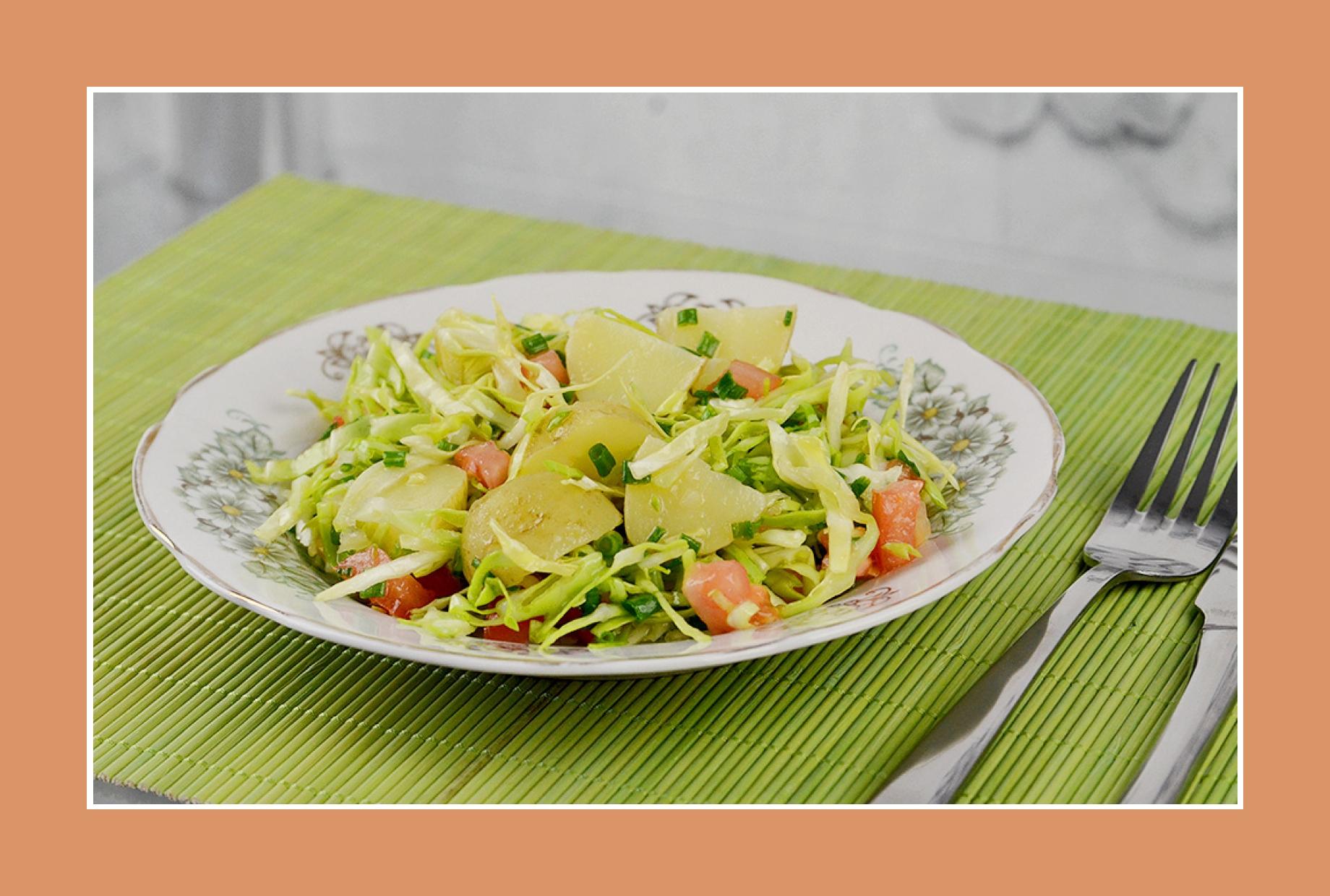 Sommerlicher Kartoffelsalat mit Weißkraut