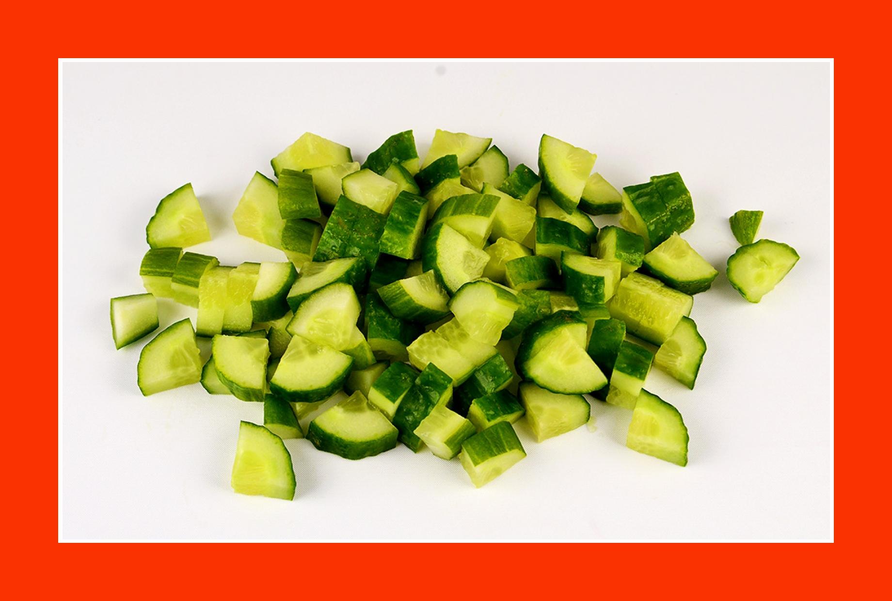 Gurkensalat zum Grillen