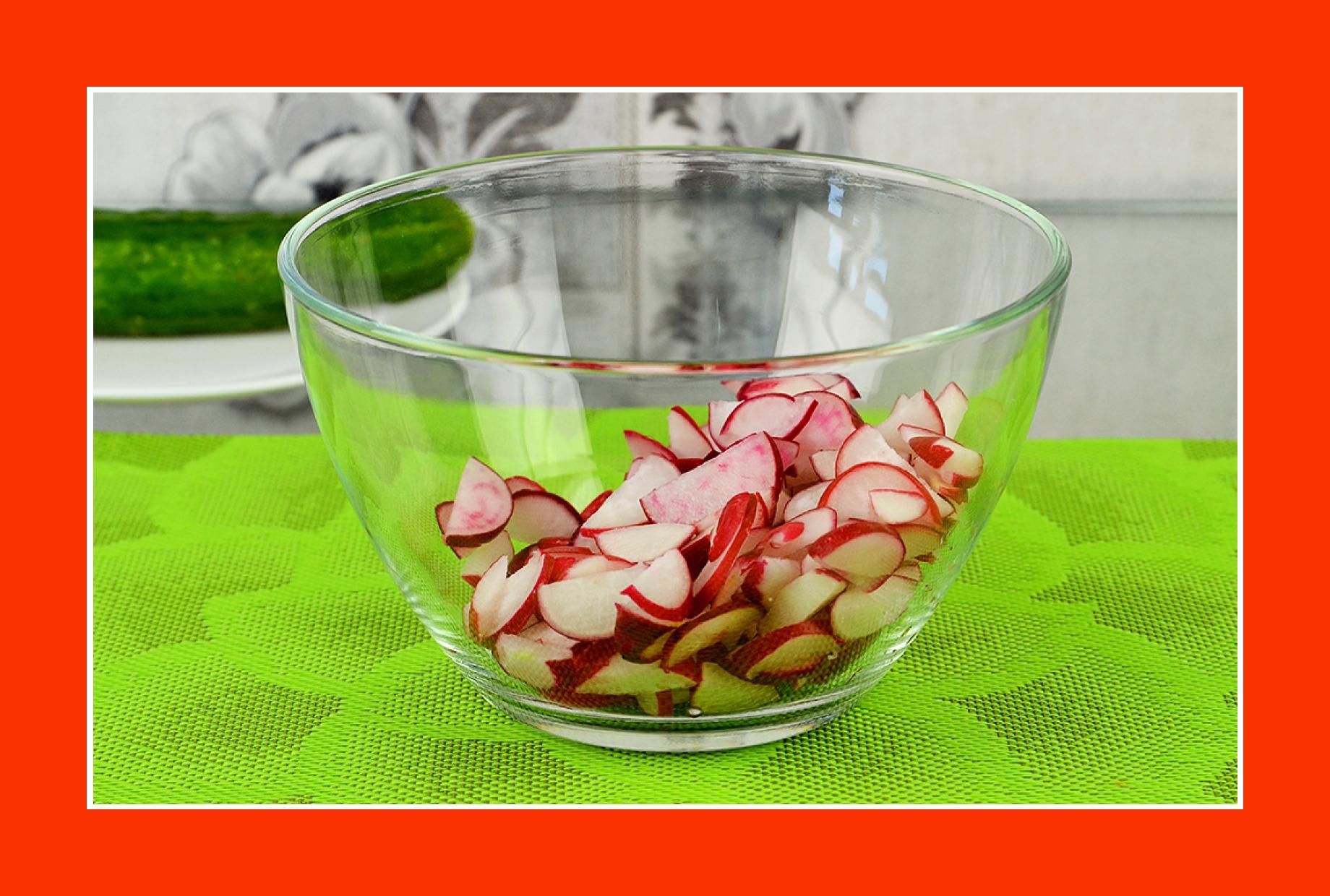 Warmer Kartoffelsalat mit Radieschen